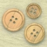 Natural wood button 4 holes 24 mm