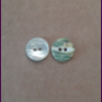 Small white green back shellbutton 2 hole , 10 mm