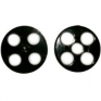 4 holes snapbutton, 19 mm, black