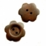 Flowershape wooden button, 2 holes, 25 mm