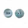 Small turqoise shellbutton 2 holes, 10 mm