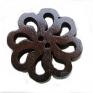 Dark Coffee flowershape Wooden Buttons,2 holes, 20 mm